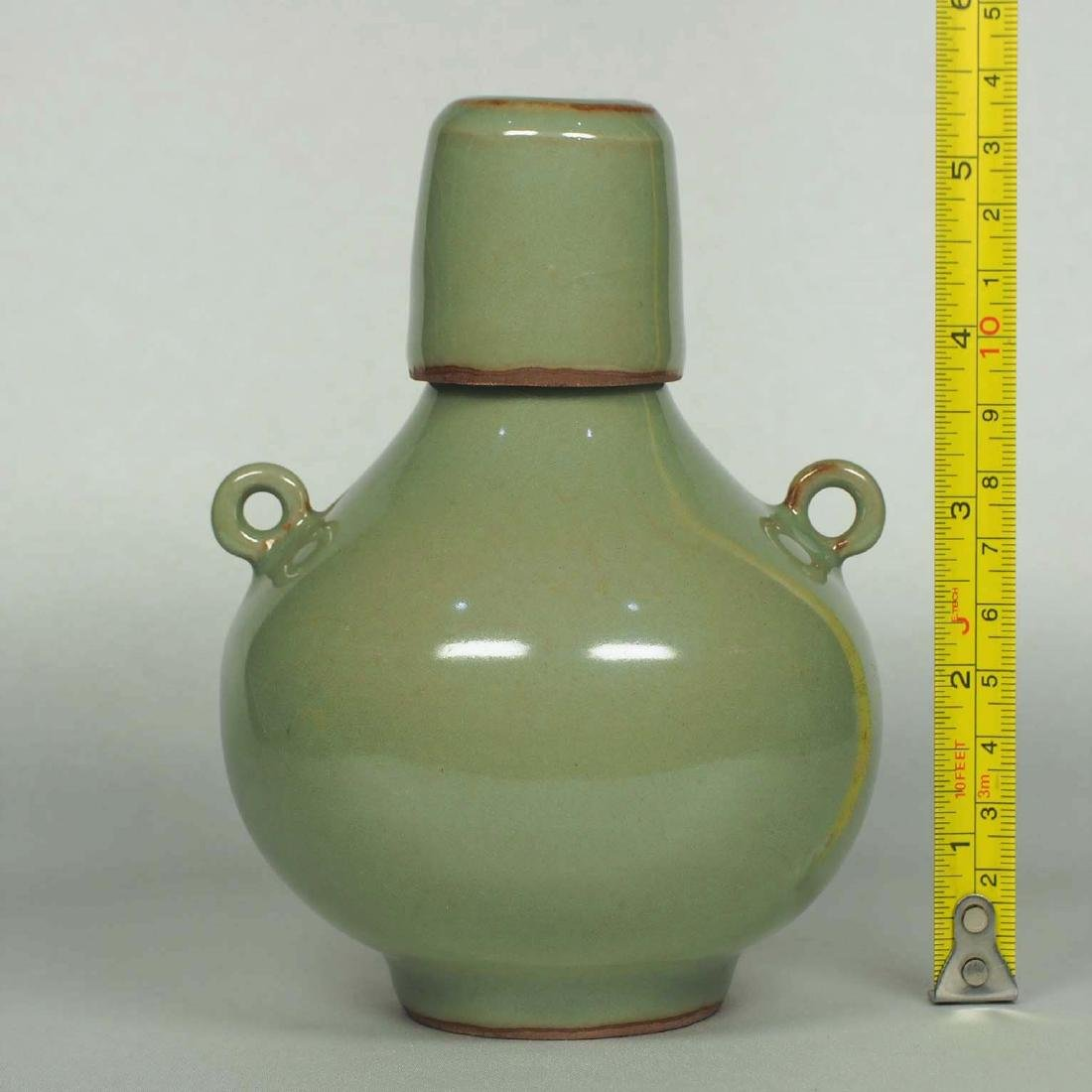 Longquan Lidded Bottle with Two Ring Lugs, Southern - 6