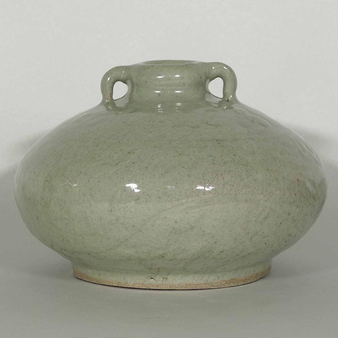 Qingbai Large Jarlet with Carved Dragon, Song Dynasty