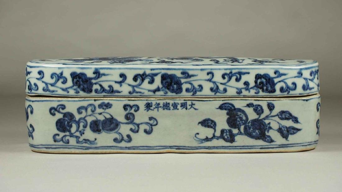 Lidded Pen Box with Dragon, Xuande Mark, Ming Dynasty - 2