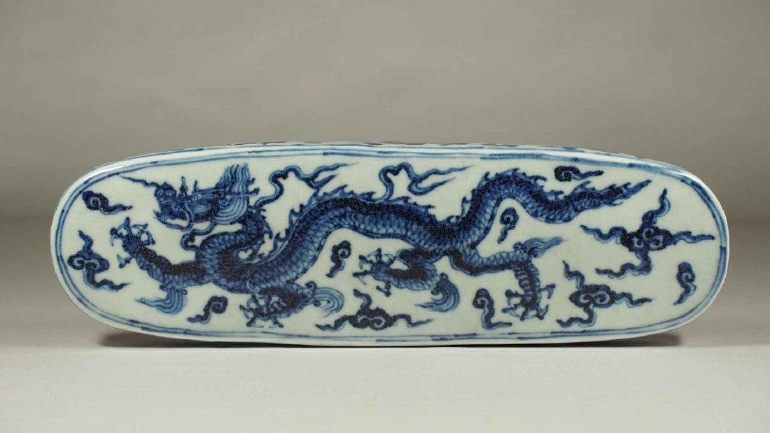 Lidded Pen Box with Dragon, Xuande Mark, Ming Dynasty - 4