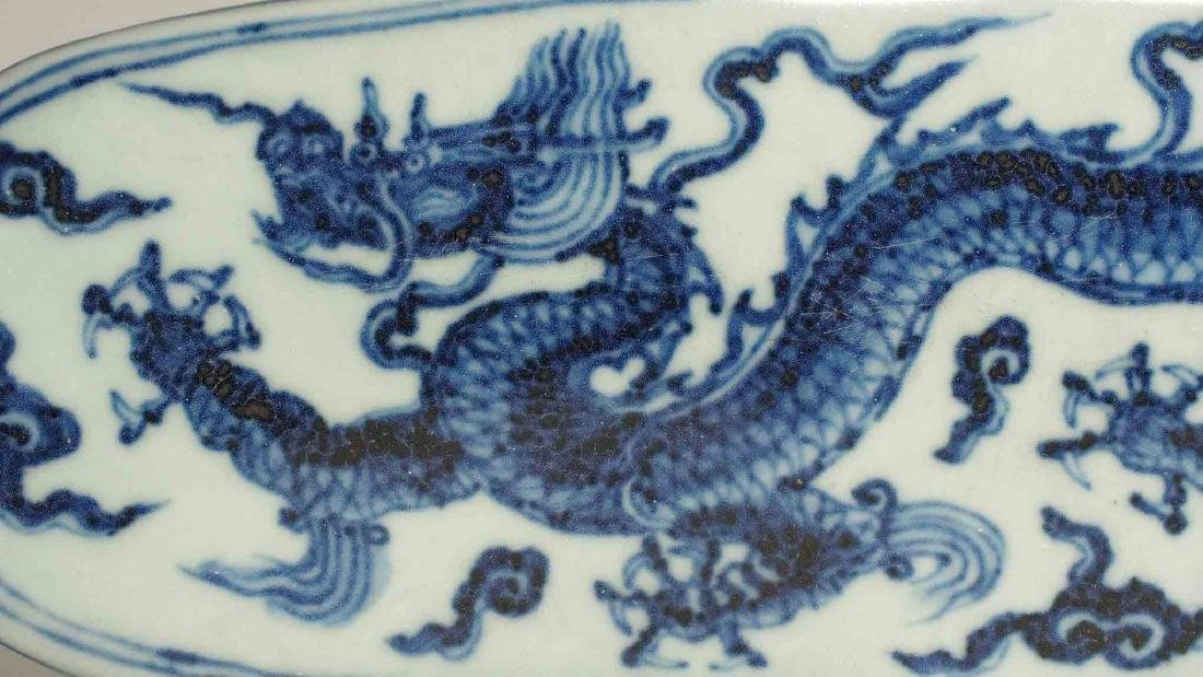 Lidded Pen Box with Dragon, Xuande Mark, Ming Dynasty - 5