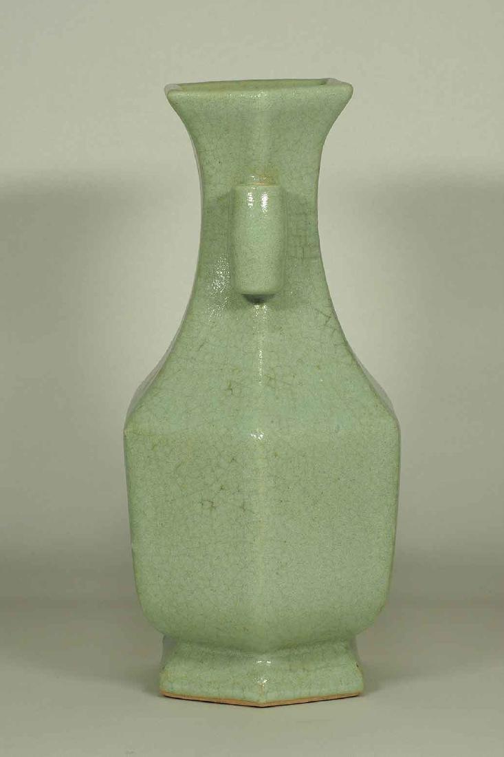 Celadon Crackled Hu-Form Vase, Ming Dynasty - 3