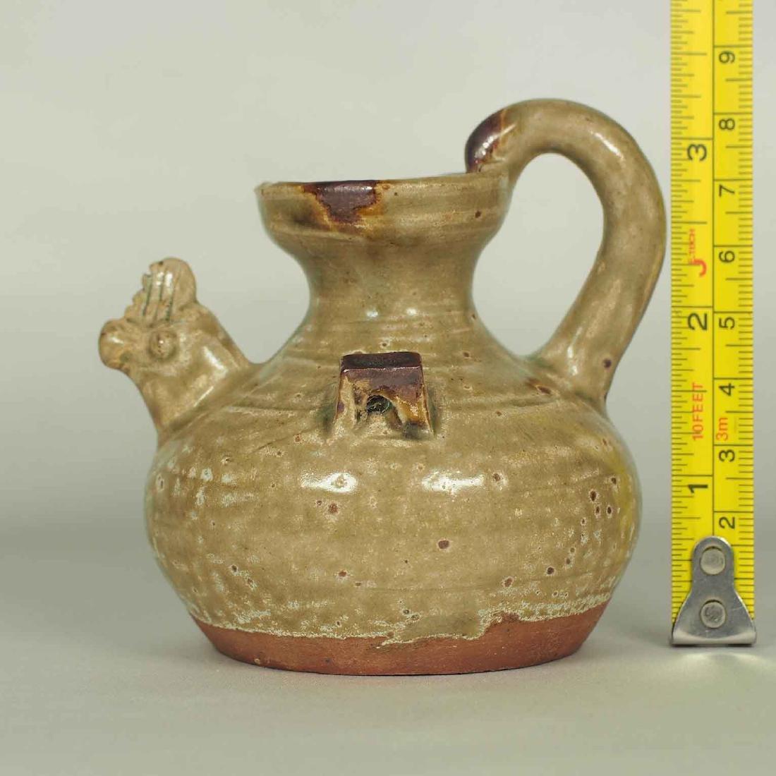 Yue Chicken Head Ewer Water Pot with Brown Spot, - 10