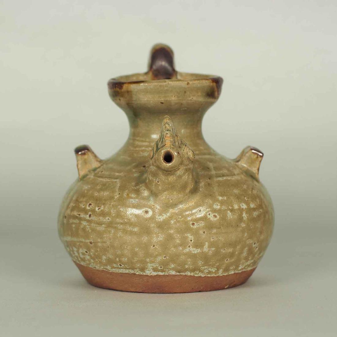 Yue Chicken Head Ewer Water Pot with Brown Spot, - 4