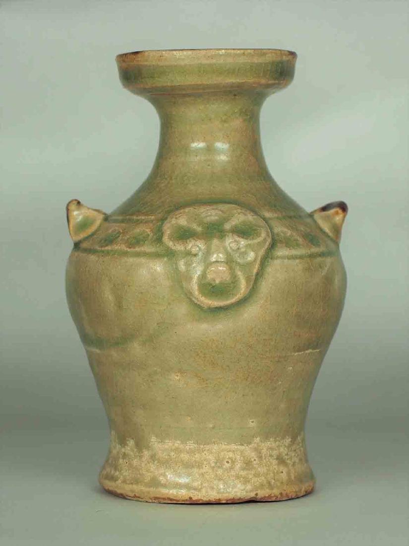 Yue Celadon Hu-form Water Pot, Eastern Jin Dynasty