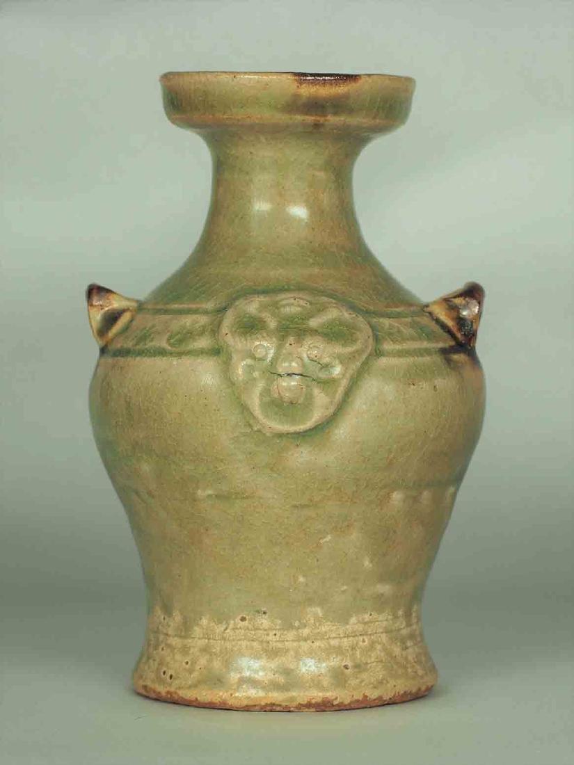 Yue Celadon Hu-form Water Pot, Eastern Jin Dynasty - 2