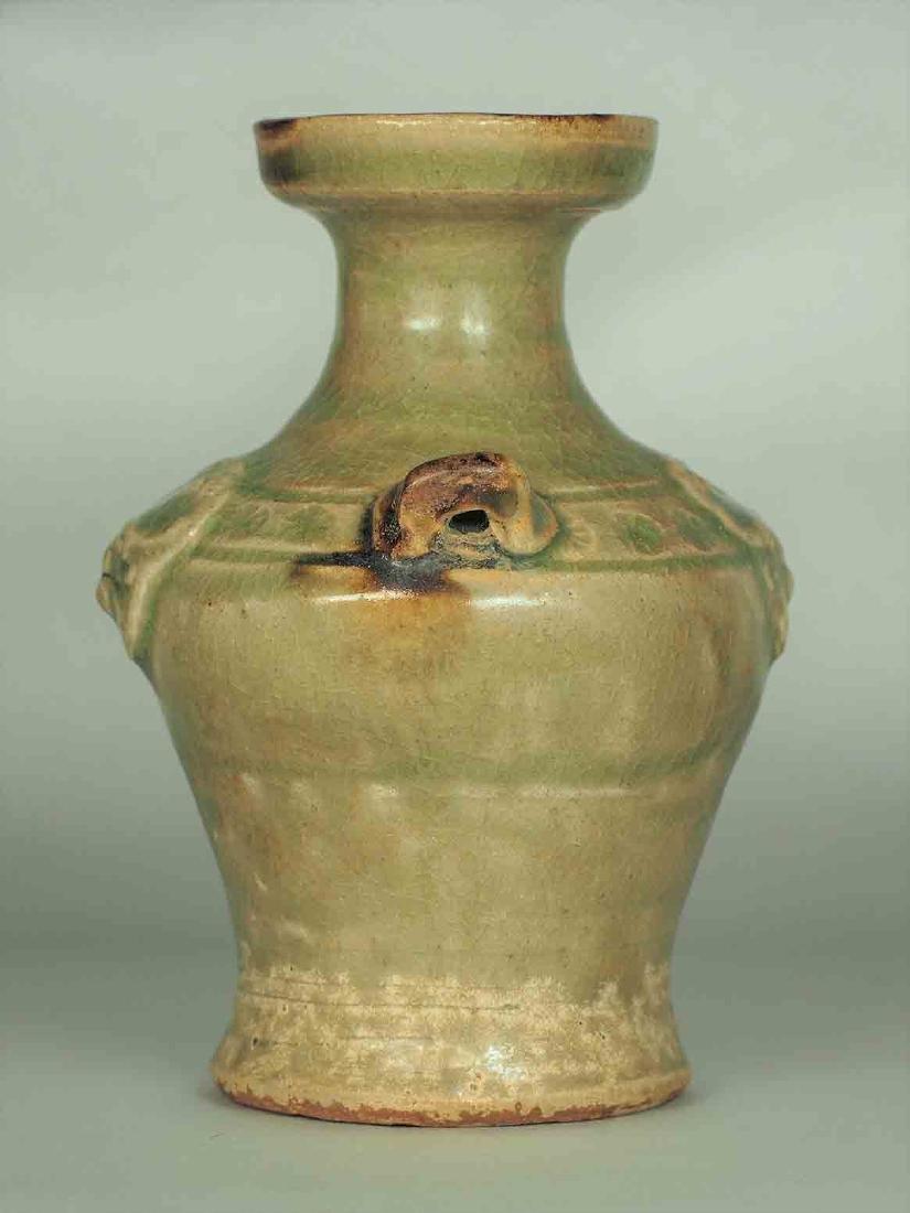 Yue Celadon Hu-form Water Pot, Eastern Jin Dynasty - 3
