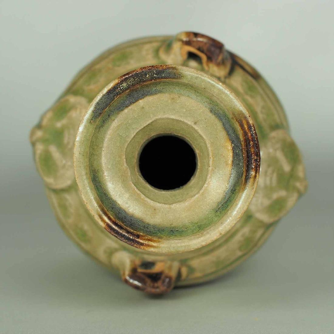 Yue Celadon Hu-form Water Pot, Eastern Jin Dynasty - 8