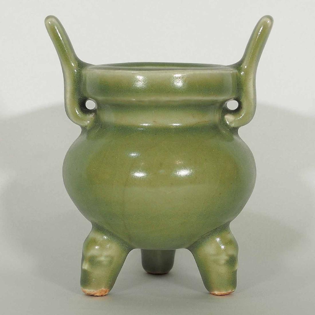 Longquan Tripod Censer, early Ming Dynasty - 2
