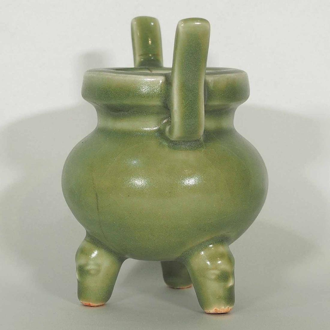 Longquan Tripod Censer, early Ming Dynasty - 4