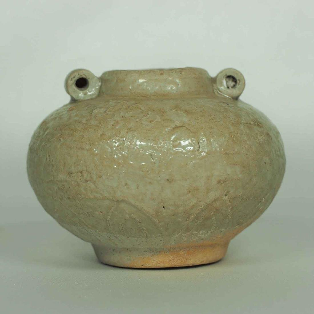 Longquan Jarlet with Impressed Lotus, Yuan Dynasty