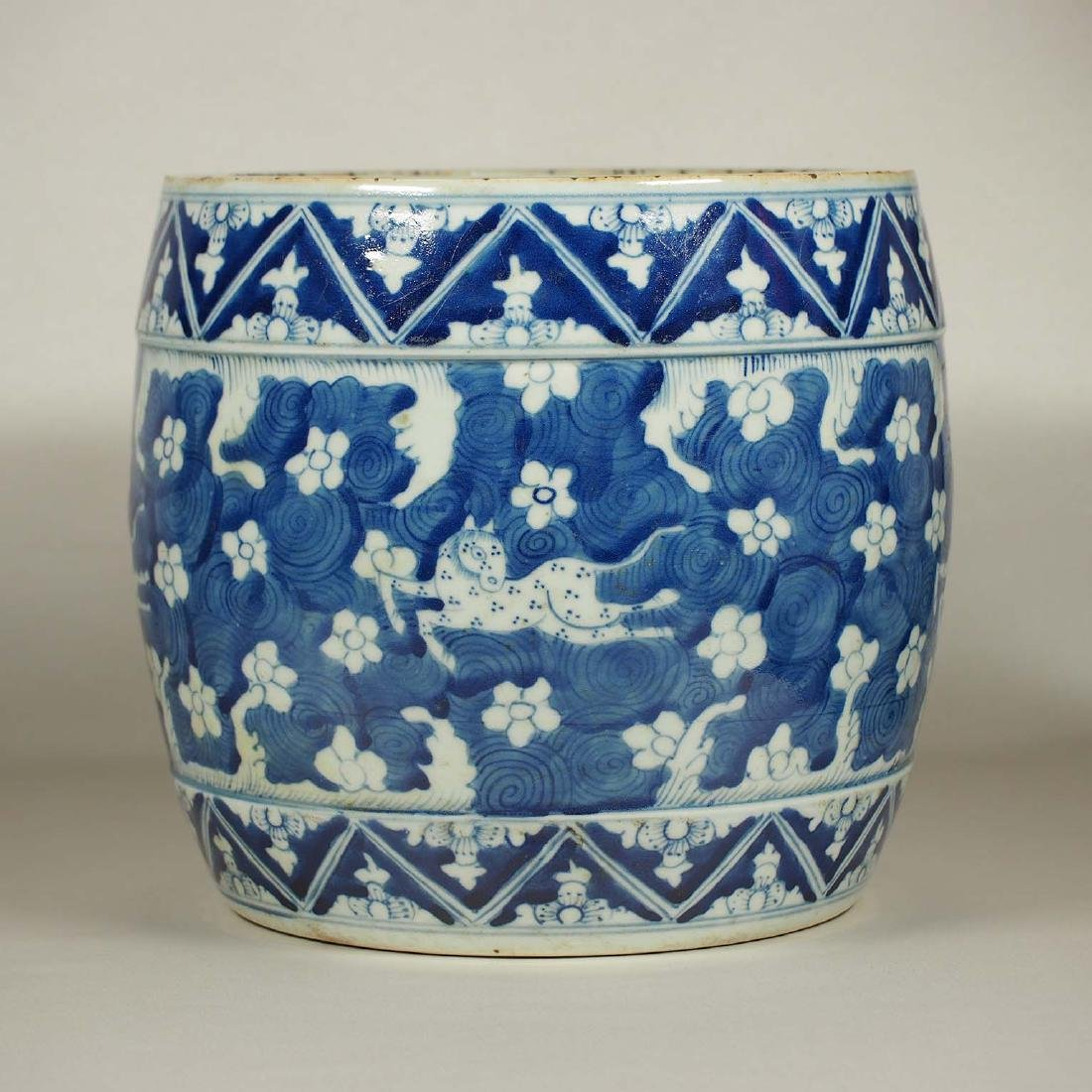 Pot with Horses Among Flowers, late Ming Transitional