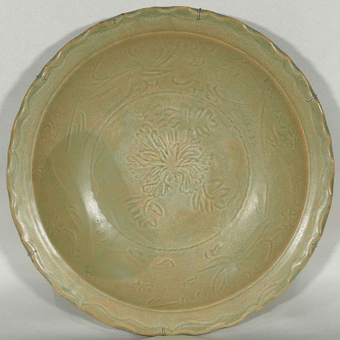 Longquan Charger with Peony, early Ming Dynasty