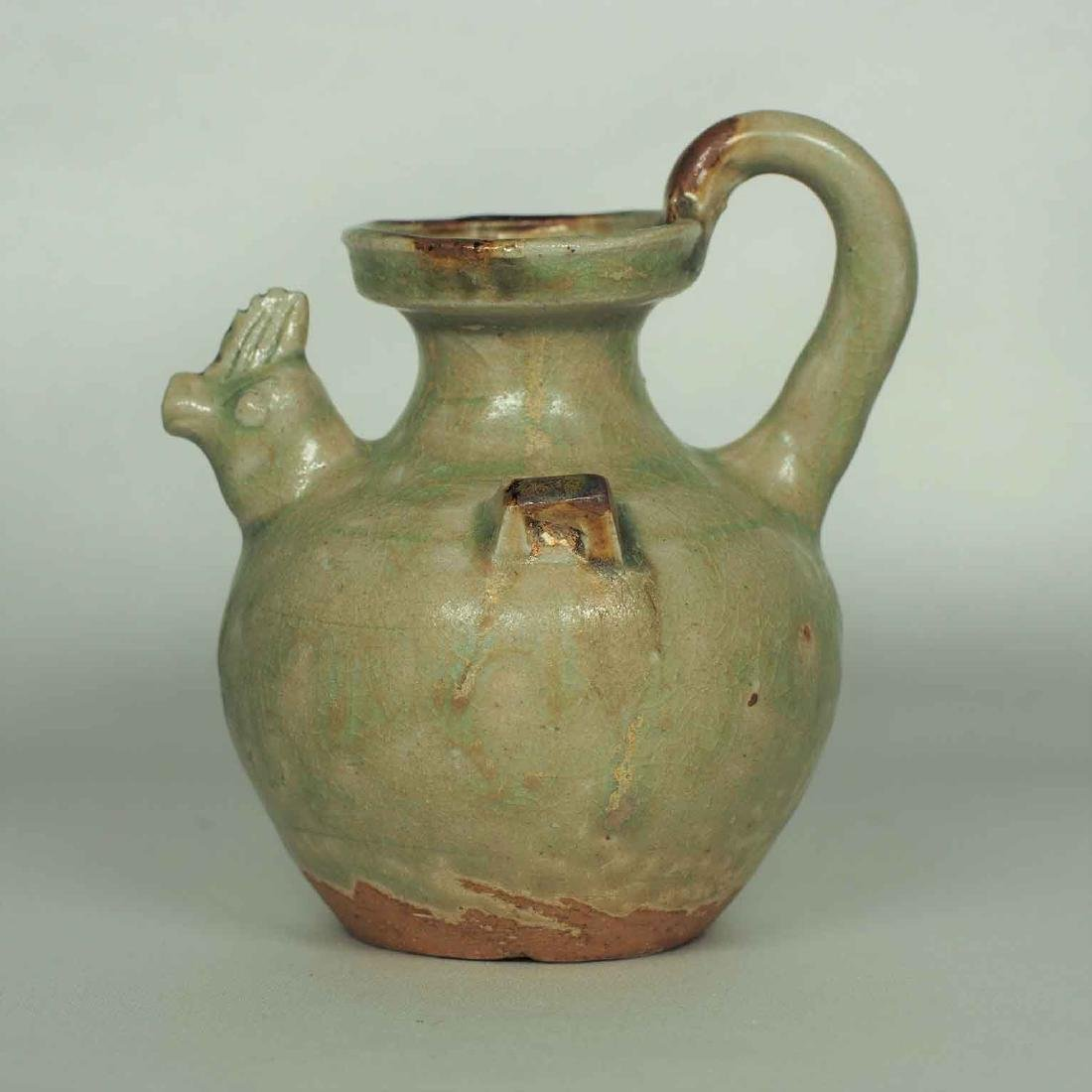 Yue Chicken-head Ewer Water Pot, Eastern Jin Dynasty