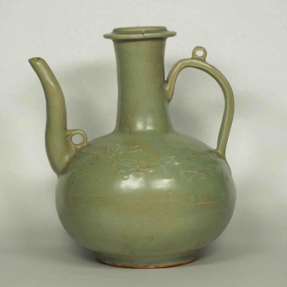 Longquan Ewer with Long Spout, late Southern Song