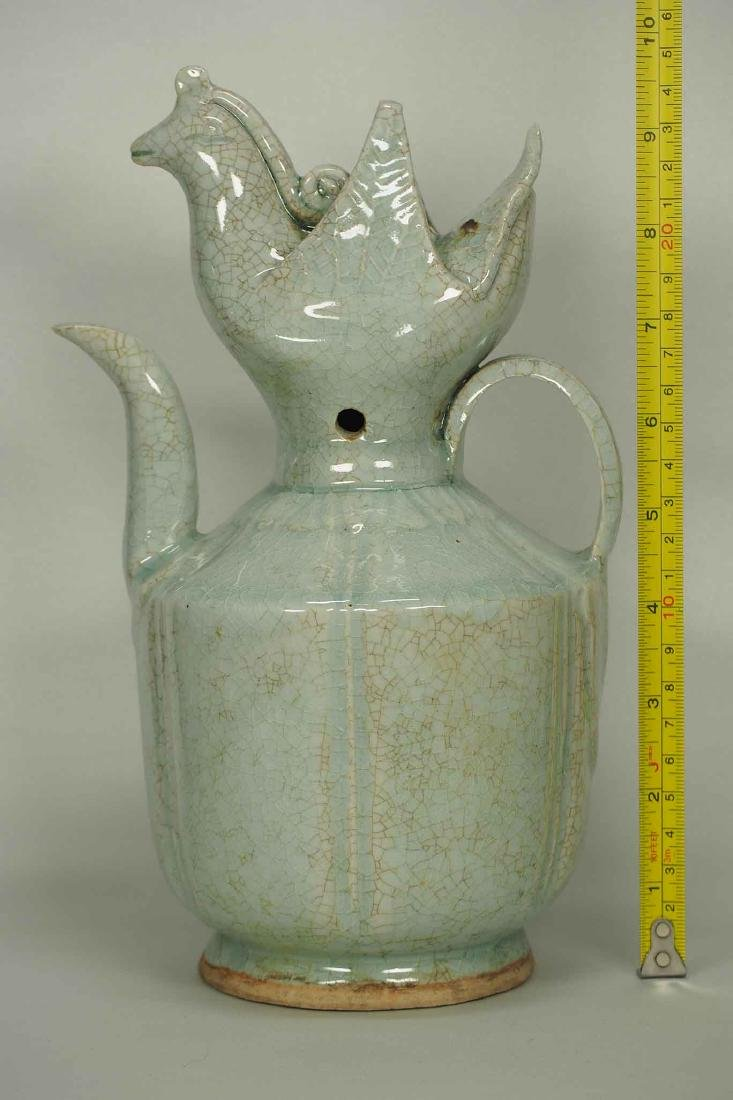 Qingbai Lobbed Ewer with Phoenix Top, Southern - 10