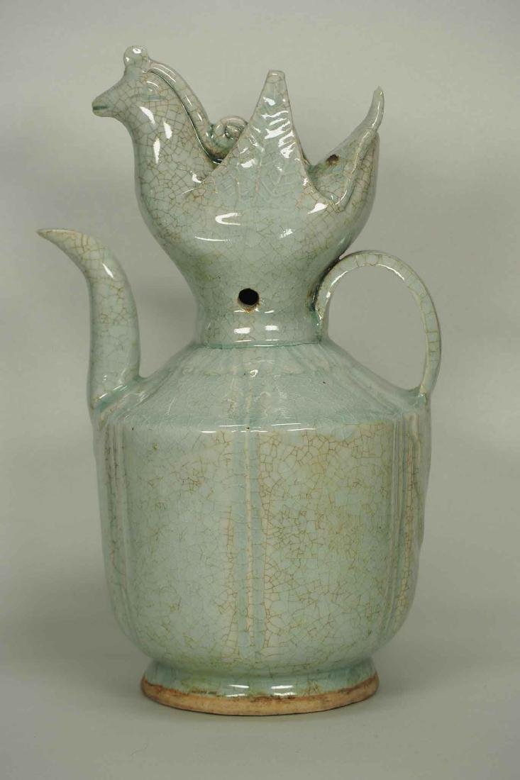 Qingbai Lobbed Ewer with Phoenix Top, Southern