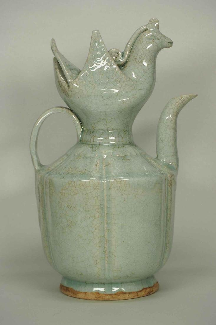 Qingbai Lobbed Ewer with Phoenix Top, Southern - 3