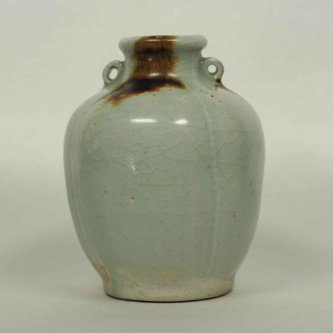 Sectioned Jarlet with Brown Spots, Yuan Dynasty