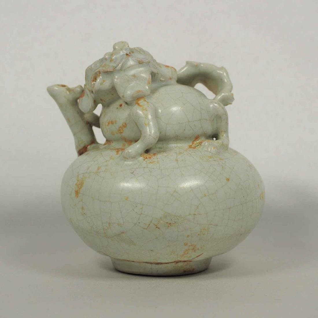 Ewer with Molded Qilin, Song-Jin Dynasty