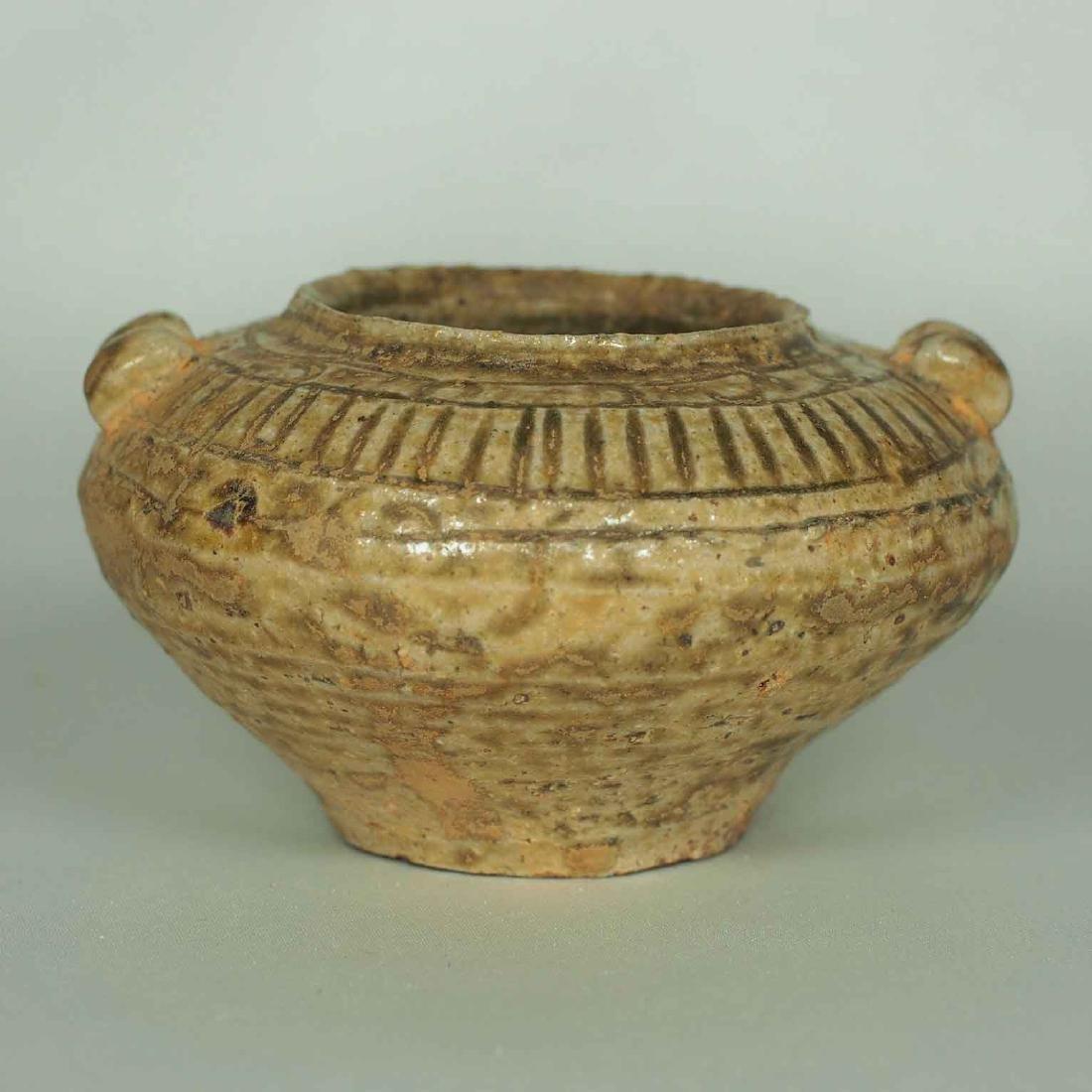 Proto-Porcelain Water Pot, Han Dynasty