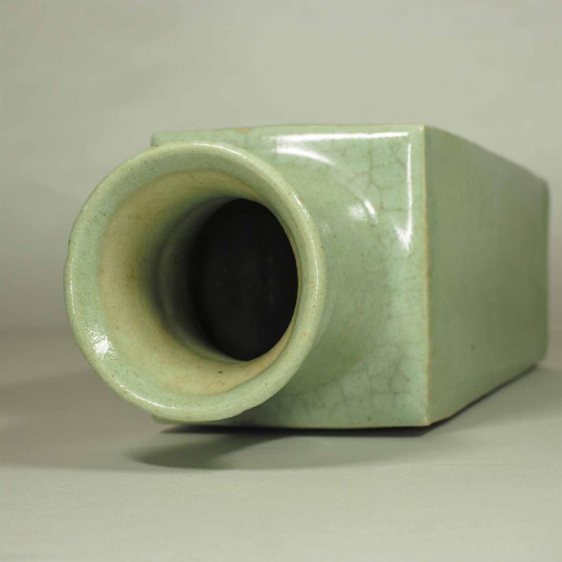 Celadon Square Crackled Vase, Ming Dynasty - 5