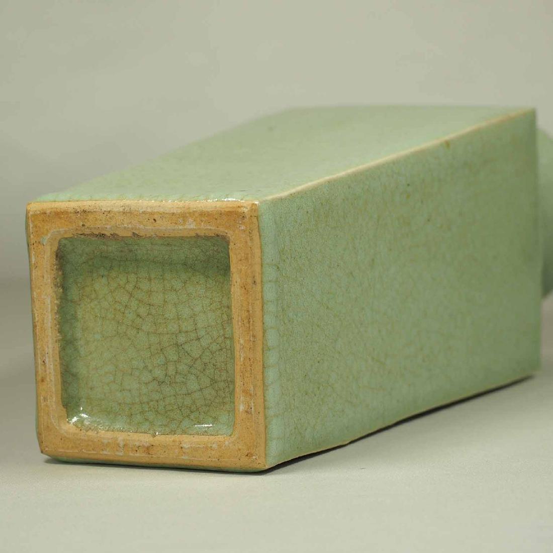 Celadon Square Crackled Vase, Ming Dynasty - 7