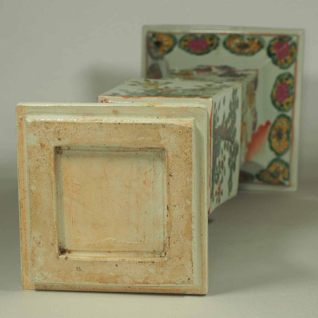Square Gu-Form Vase, Tongzhi Period, Qing Dynasty - 10