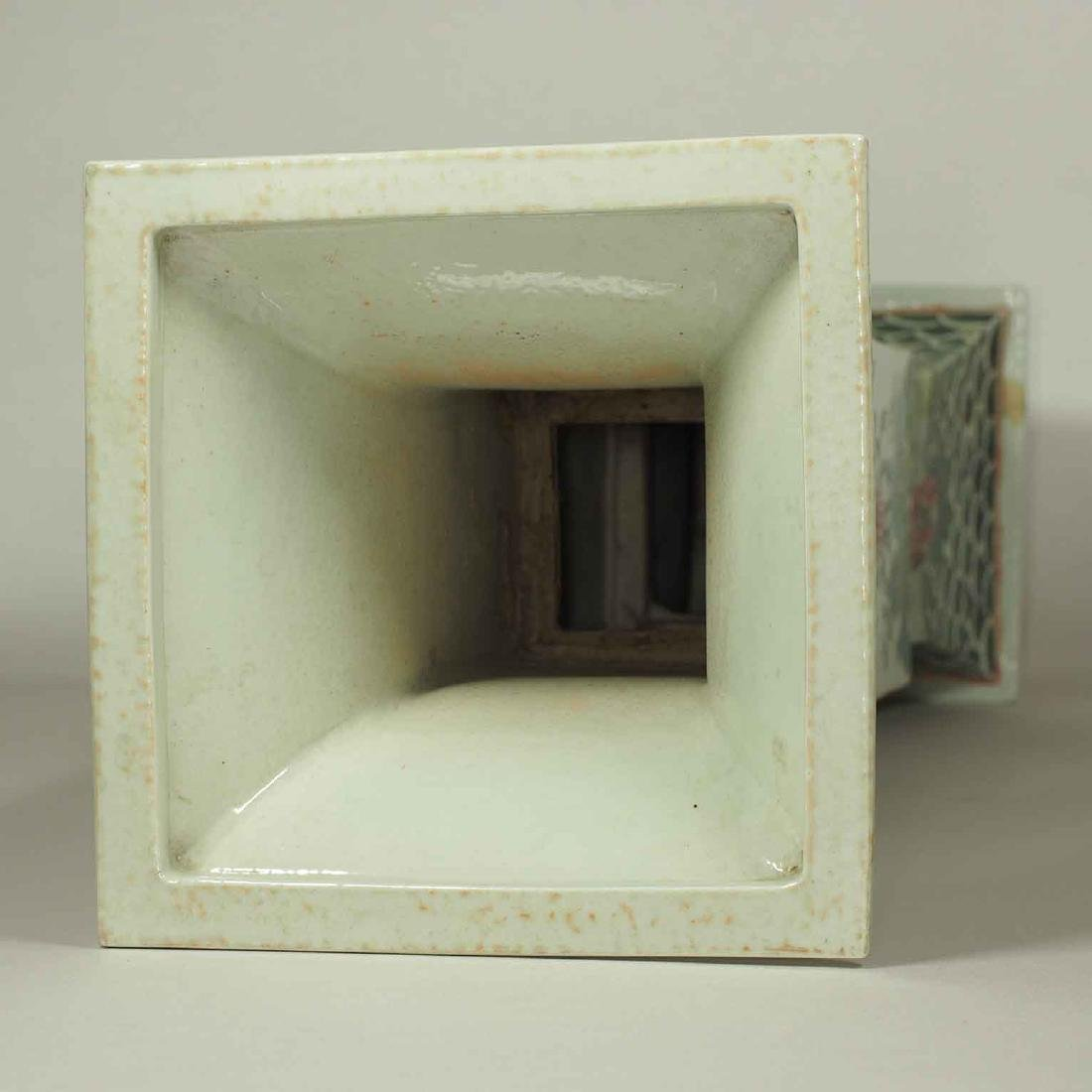 Square Gu-Form Vase, Tongzhi Period, Qing Dynasty - 8