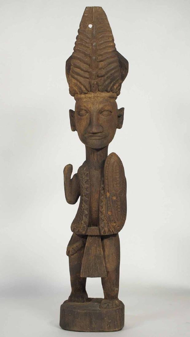 Wooden Statue Warrior with a Shield, Nias Island