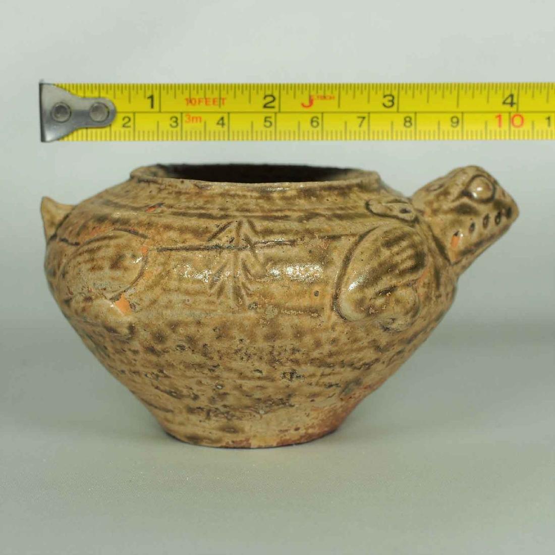 Proto-Porcelain Turtle-Form Water Pot, Han Dynasty - 11