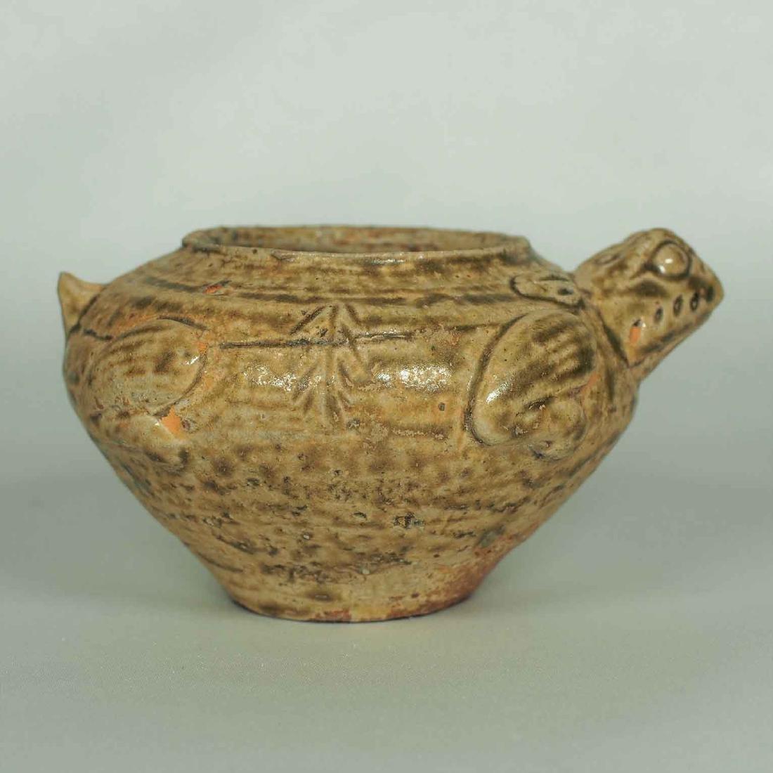 Proto-Porcelain Turtle-Form Water Pot, Han Dynasty - 2