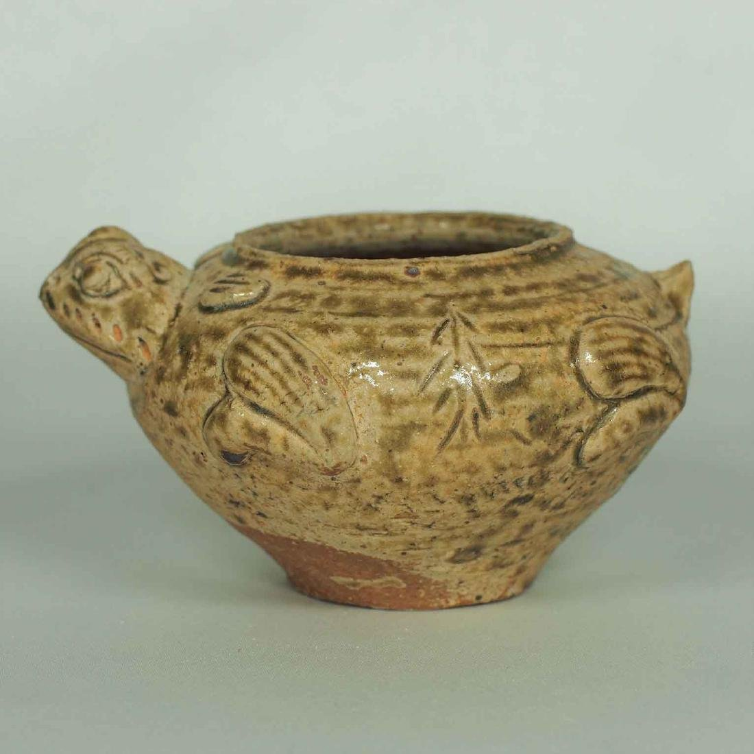 Proto-Porcelain Turtle-Form Water Pot, Han Dynasty - 3