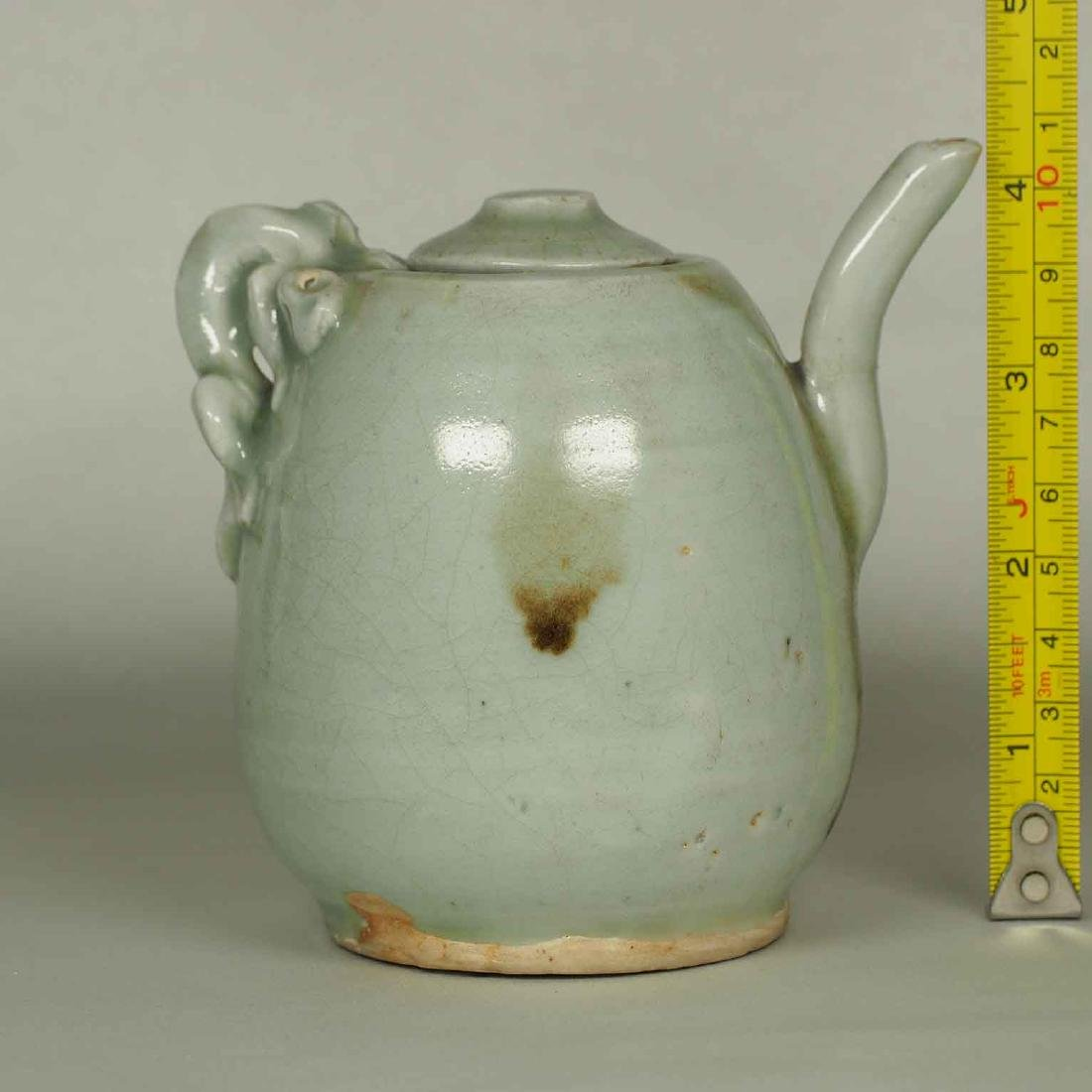 Ewer with Dragon Handle and Brown Spots, Yuan-early - 13