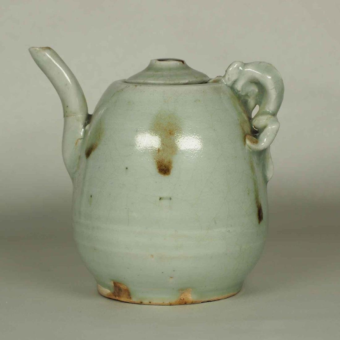 Ewer with Dragon Handle and Brown Spots, Yuan-early - 2