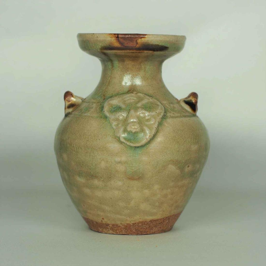 Yue Celadon Hu-form Water Pot, Eastern Jin Dynasty