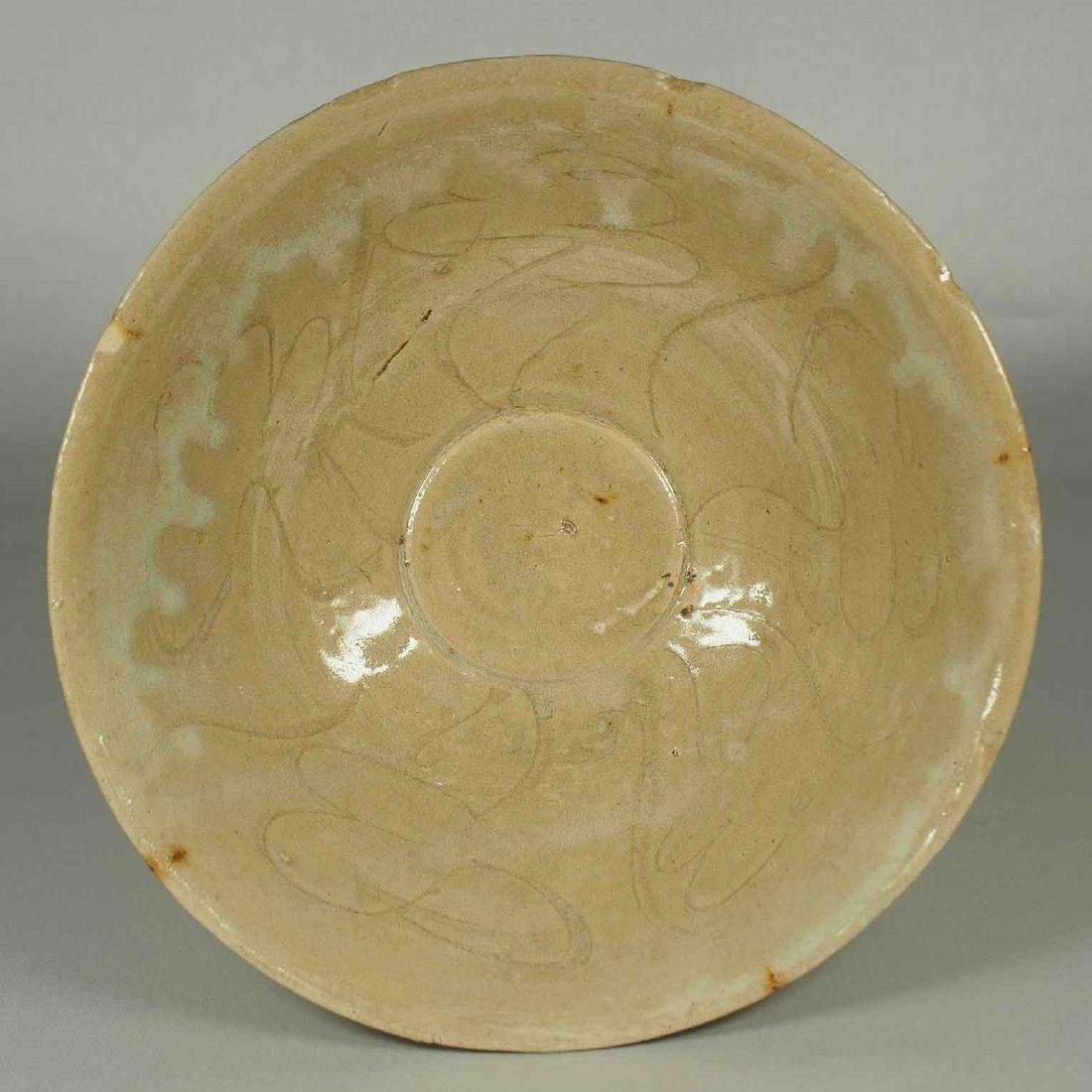 Yue Celadon Bowl with Incised Design, Song Dynasty