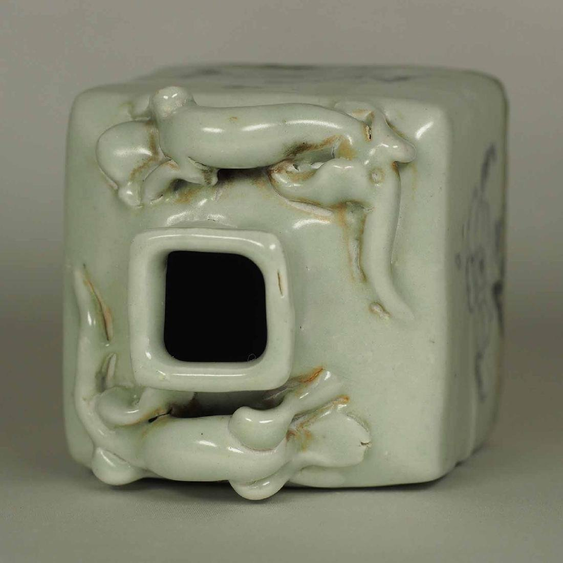 Square Jarlet with Two Dragons, Yuan Dynasty - 6