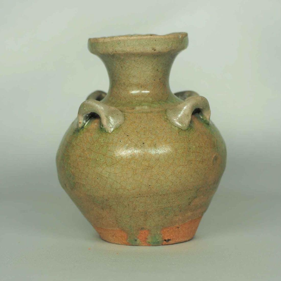 Yue Hu-Form Water Pot with Four Lugs, Western Jin