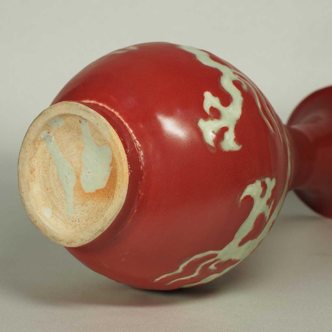 Red Yuhuchun with Dragon Design, early Ming Dynasty - 6