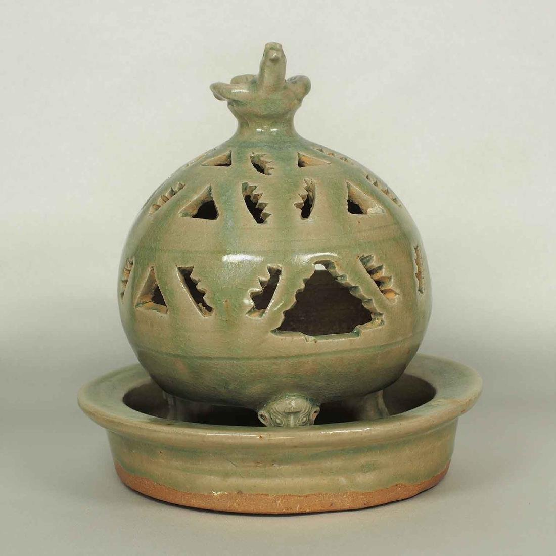 Incense Burner with Bird Top, Western Jin Dynasty