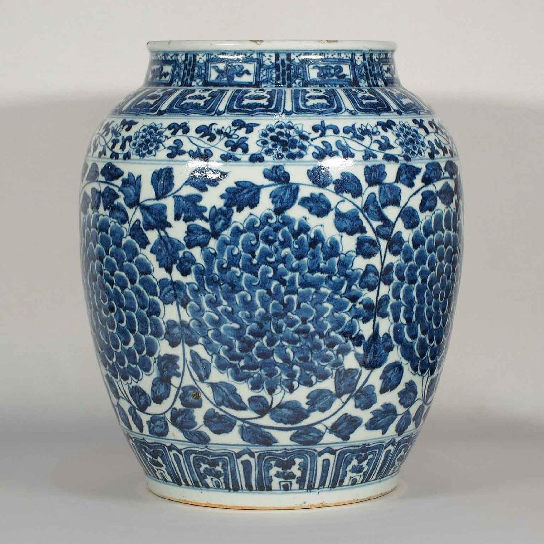 Jar with Flowers and Leaves Scroll Design, Zhengde,
