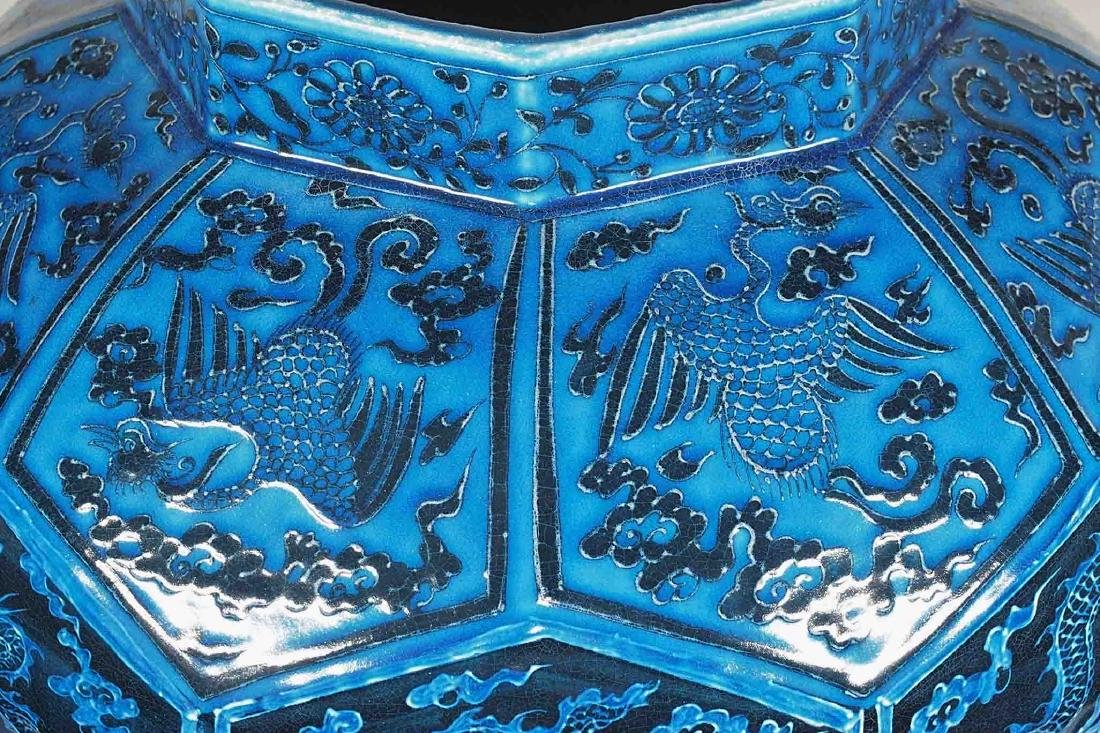 Massive Jar with Reverse Dragon and Phoenix, Ming - 10