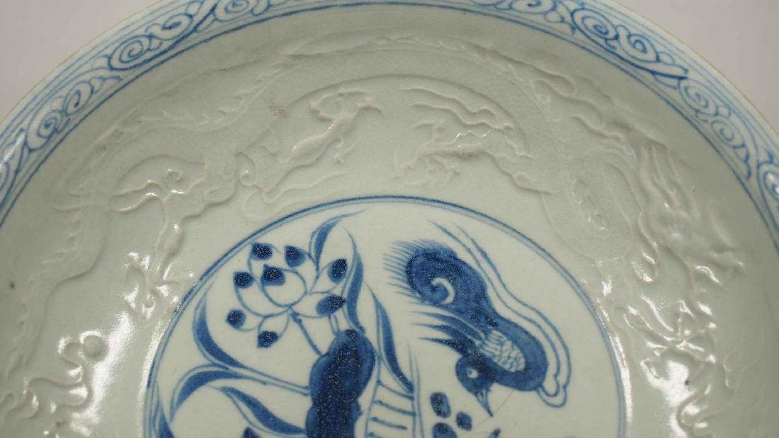 (TL) Plate with Embossed Dragons, Yuan-early Ming - 4