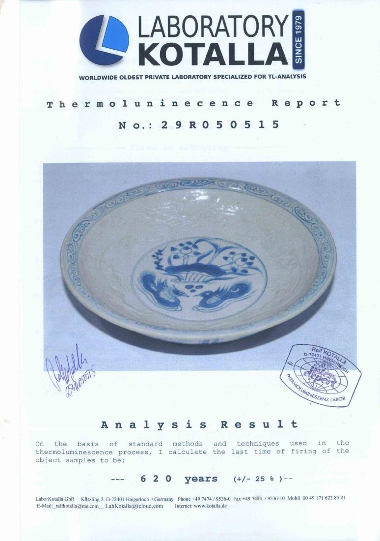 (TL) Plate with Embossed Dragons, Yuan-early Ming - 9