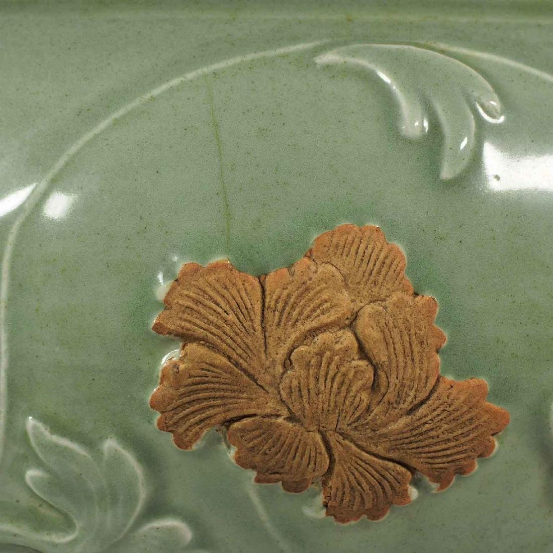 Longquan Jar with Biscuit-Decorated Peony, Yuan-early - 7