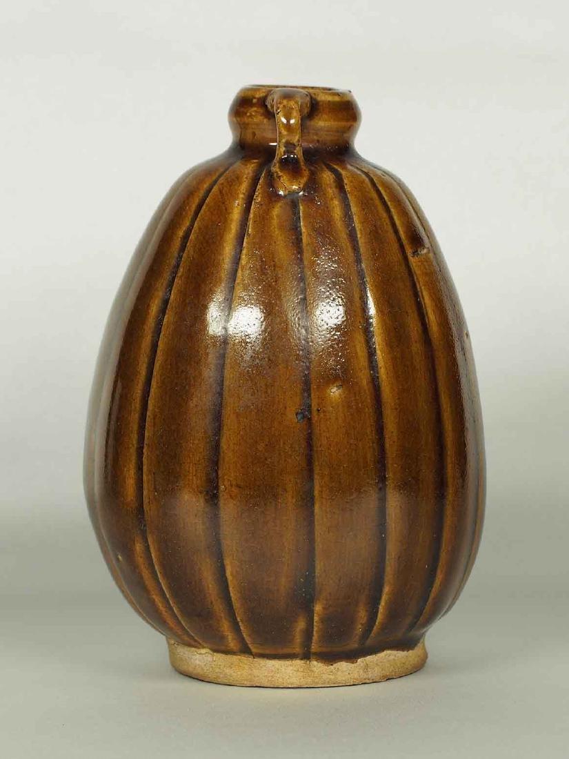Brown Glaze Jarlet with Two Lugs, Sukhothai - 2
