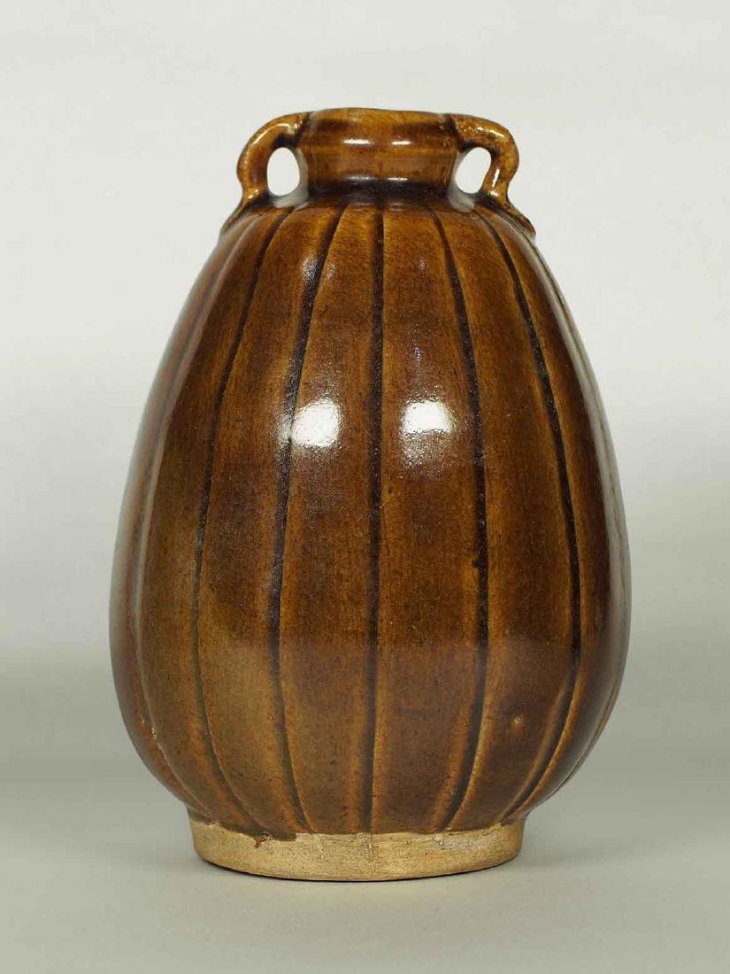 Brown Glaze Jarlet with Two Lugs, Sukhothai - 3