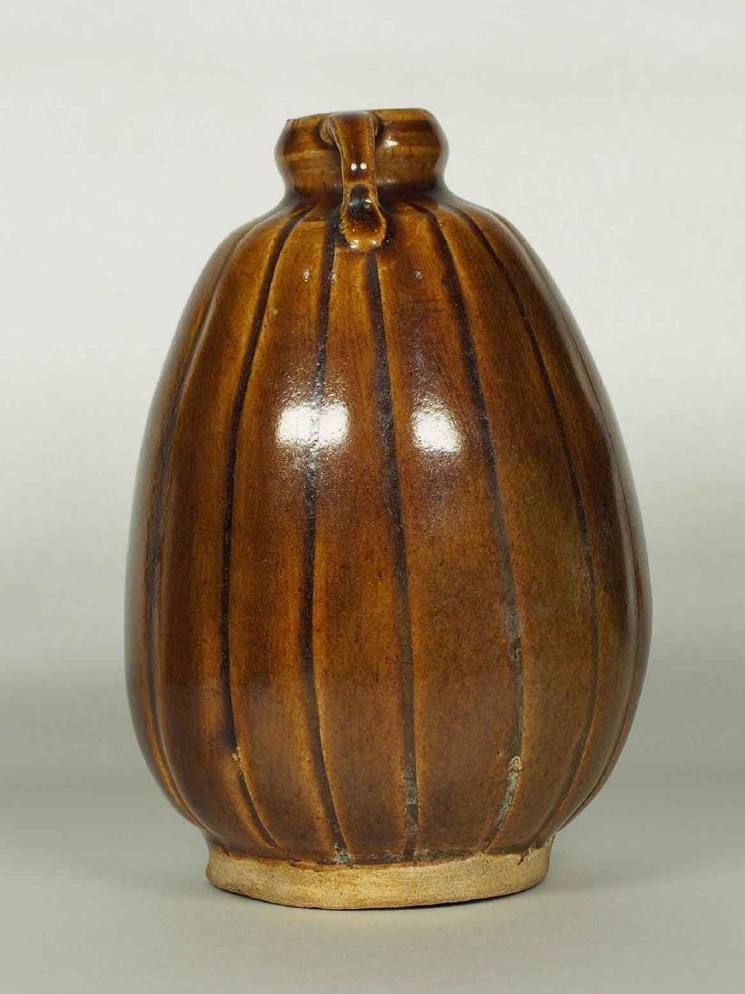 Brown Glaze Jarlet with Two Lugs, Sukhothai - 4