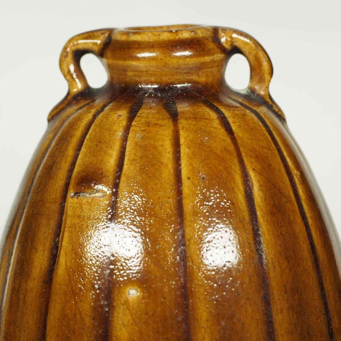 Brown Glaze Jarlet with Two Lugs, Sukhothai - 5
